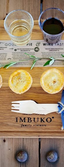 Imbuko wines gourmet pie and wine pairing