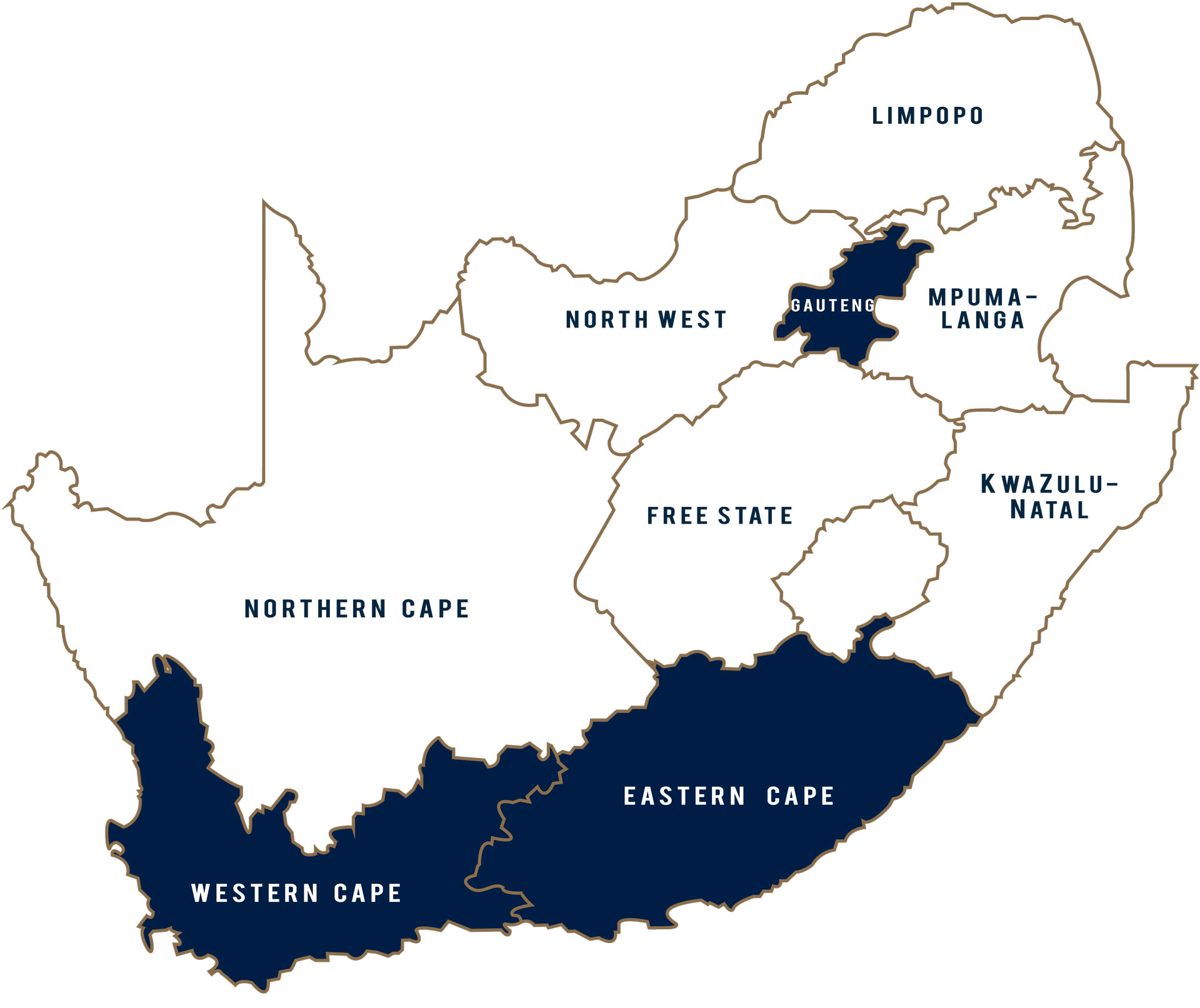 Map of SA for Brands